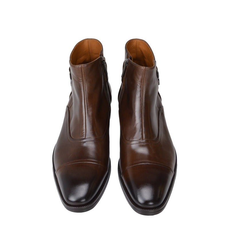 Arcadia Leather Boot - Dark Brown Leather