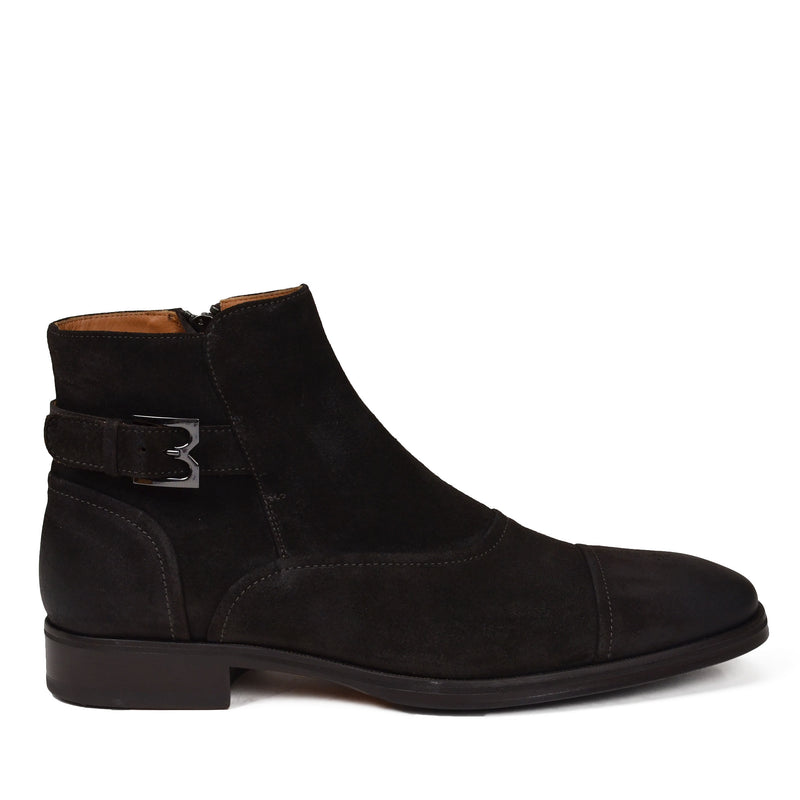 Arcadia Suede Boot - Dark Brown Suede