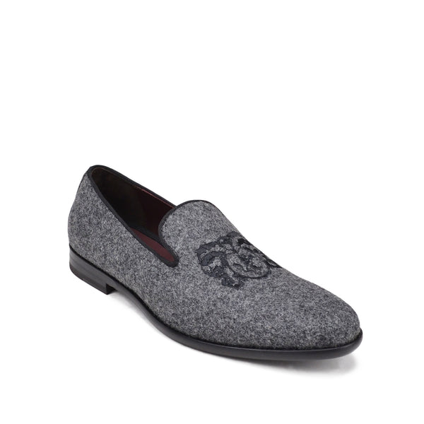 Picasso Wool Slip-On - Dark Grey Wool