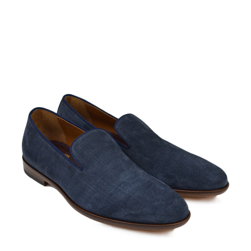 Picasso Suede Venetian Slip-On - Navy