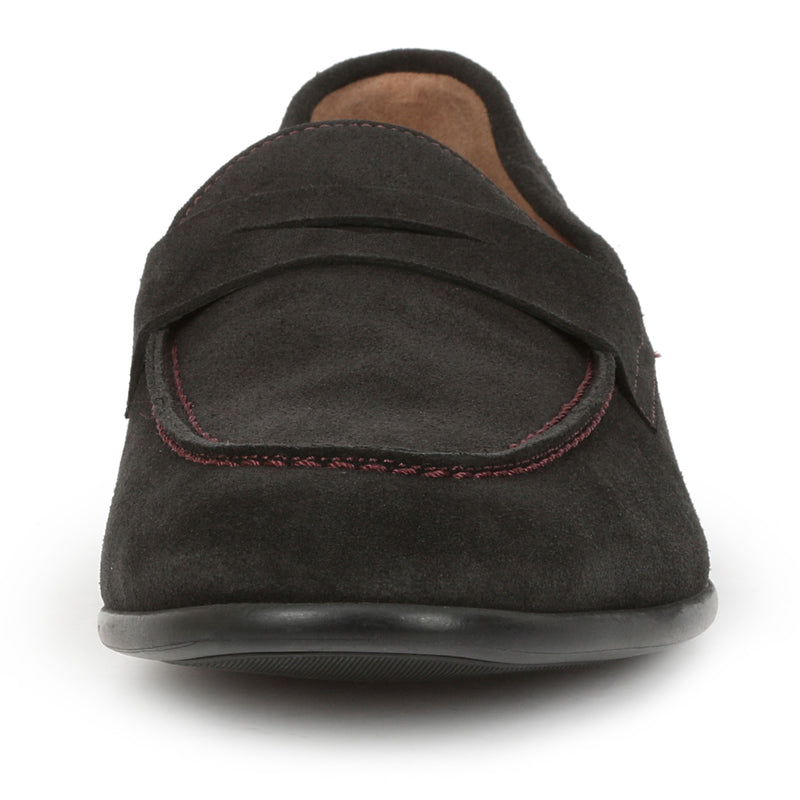 Silas Suede Loafer - Black Suede