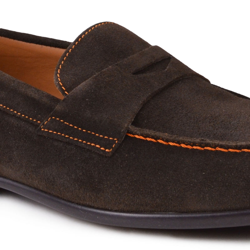 Silas Suede Loafer - Dark Brown Suede