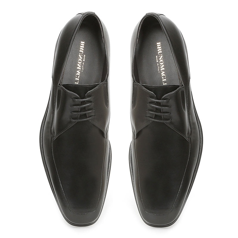 Rich Leather Lace-Up - Black Leather