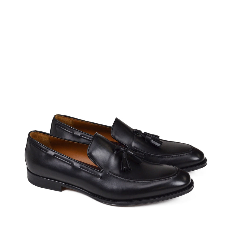 Fabiolo Slip-On Tassel Loafer - Black Leather - FINAL SALE