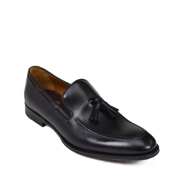 Fabiolo Slip-On Tassel Loafer - Black Leather