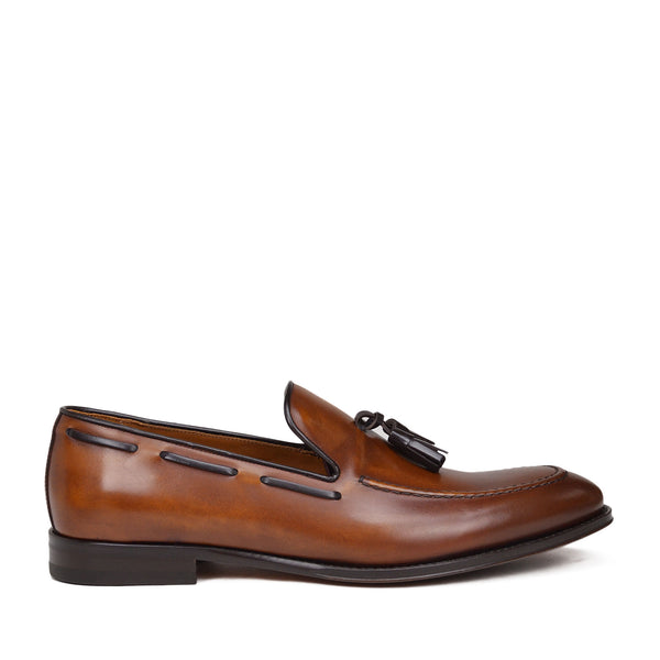Fabiolo Slip-On Tassel Loafer - Cognac Leather