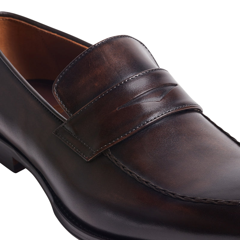 Fanetta Penny Loafer - Dark Brown