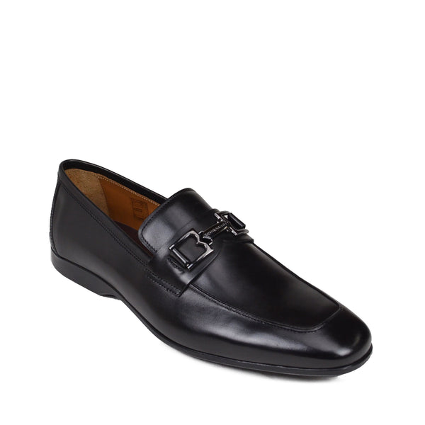 Morolo Slip-On Bit Loafer - Black Leather
