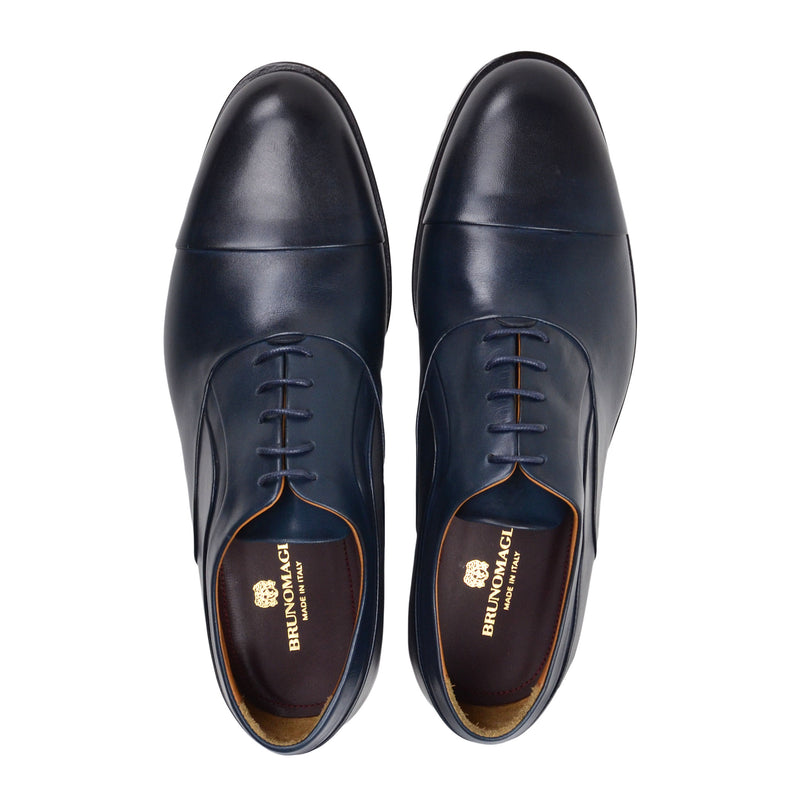 Sassiolo Lace-Up Oxford - Navy Leather
