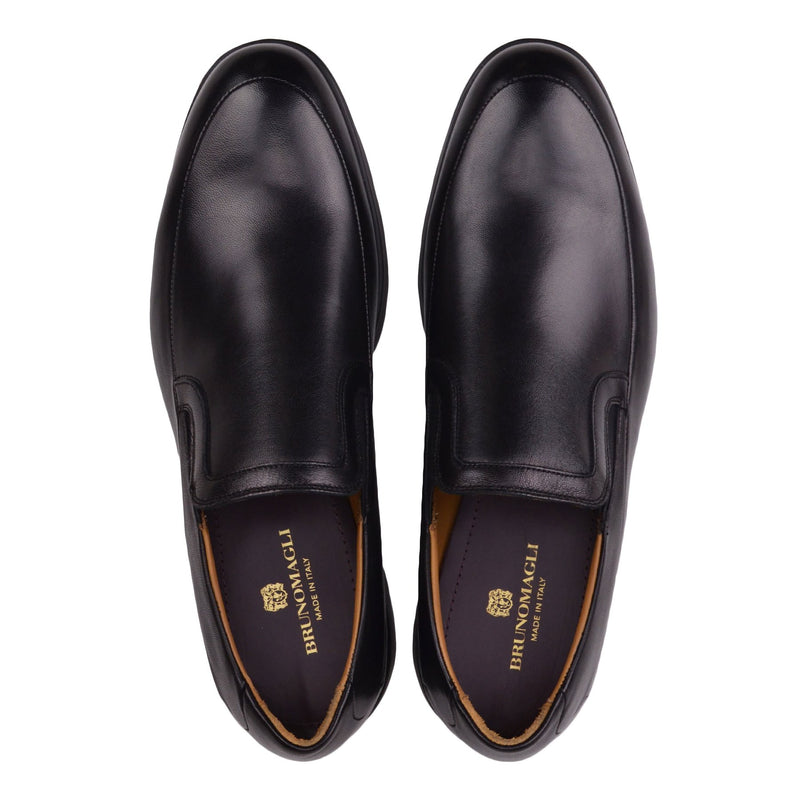 Vegas Leather Slip-on - Black Leather