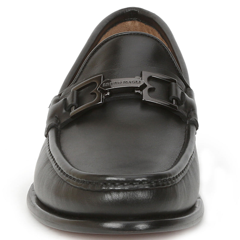Enzo Slip-On Bit Loafer - Black Leather