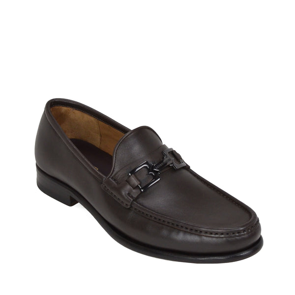 Enzo Slip-On Bit Loafer - Dark Brown Leather