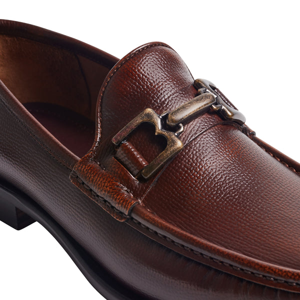 Bruno Magli Enzo BM600471 Mens Brown Leather Low Top Casual Loafers Shoes