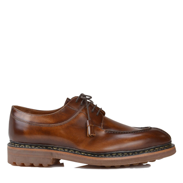 Camino Leather Lace-up Derby - Cognac - FINAL SALE