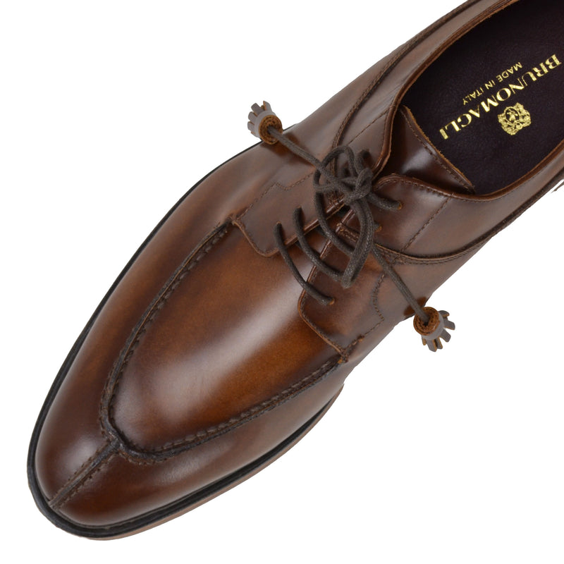 Camino Leather Lace-up Derby - Cognac