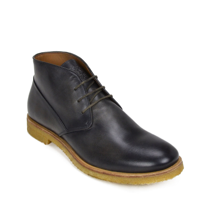 Principe Leather Desert Boot - Dark Grey Leather