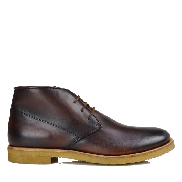 Principe Leather Desert Boot - Cognac Leather
