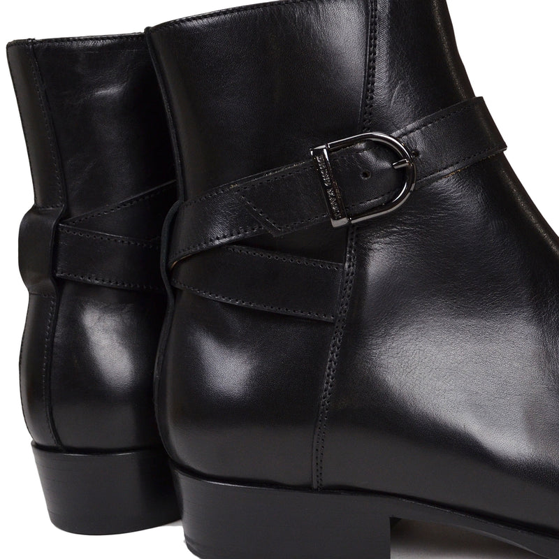 Radford Ankle-Strap Boot - Black Leather