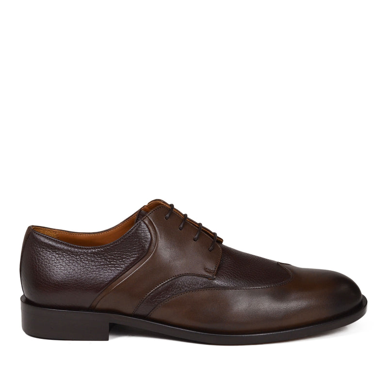 Salvatore Wingtip Derby Shoe - Dark Brown Leather