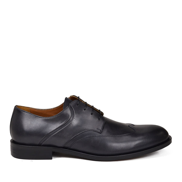 Salvatore Wingtip Derby Shoe - Dark Grey Leather