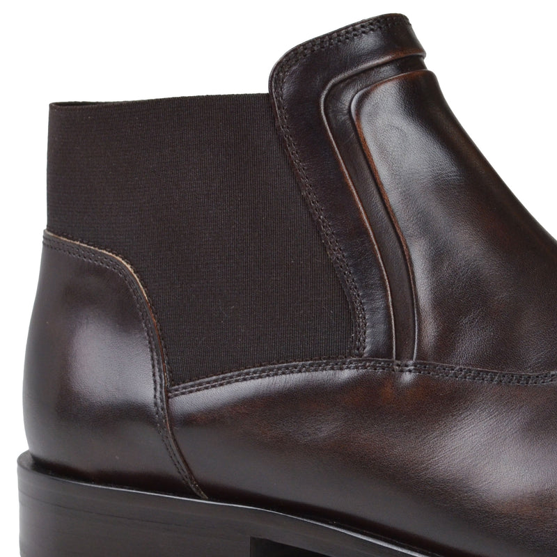 Sancho Leather Chelsea Boot - Dark Brown Leather