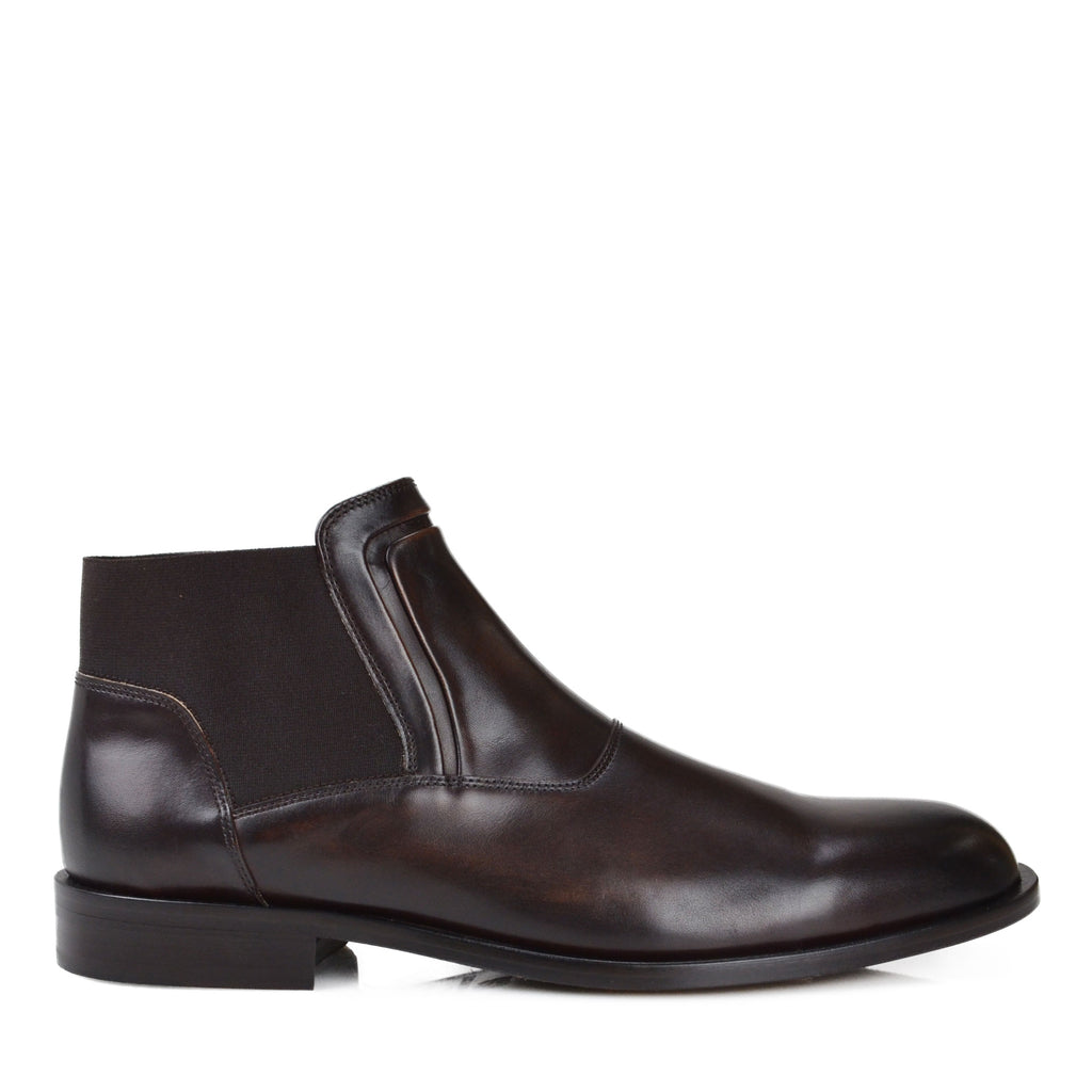52f65f0e9d3 Sancho Leather Chelsea Boot - Dark Brown Leather