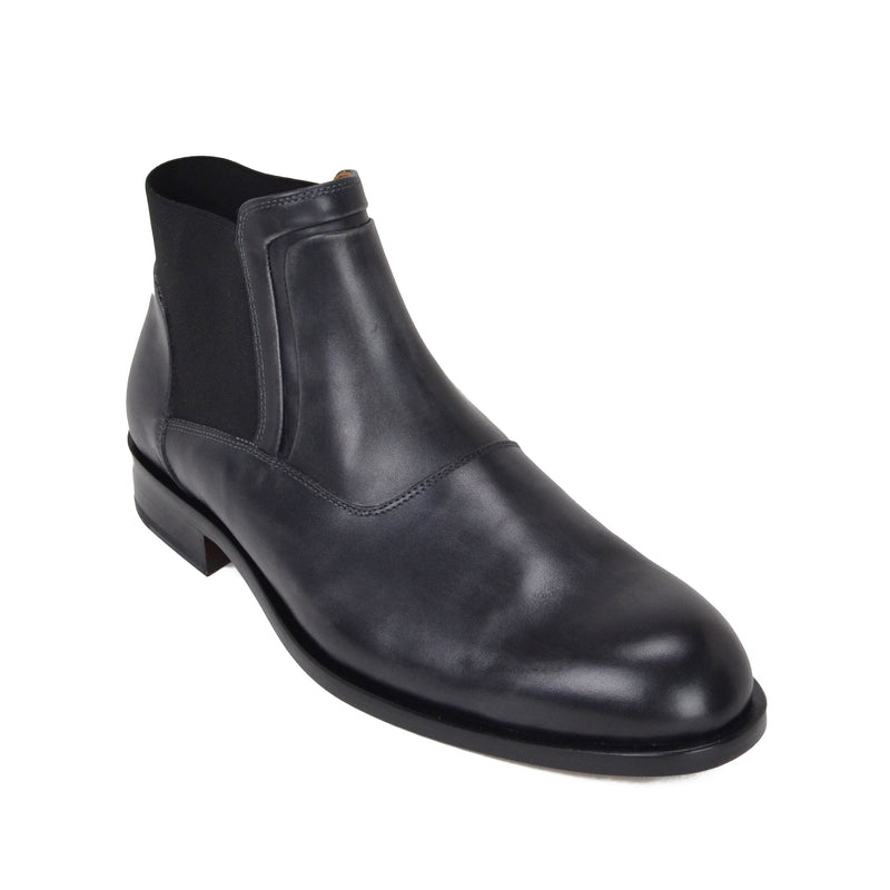 Sancho Leather Chelsea Boot - Dark Grey Leather