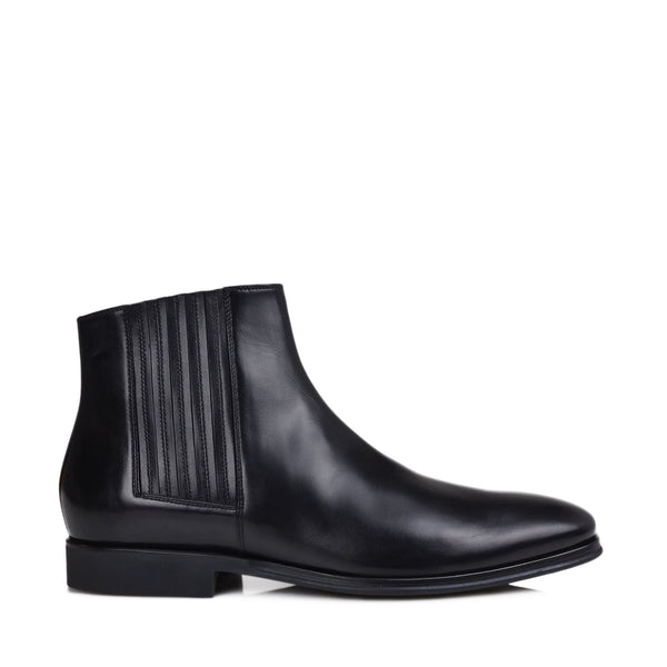 Rezzo Nappa Leather Chelsea Boot - Black