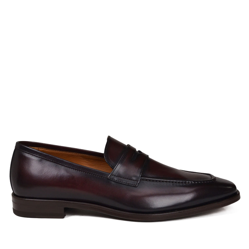 Corrado Penny Loafer - Bordo Leather