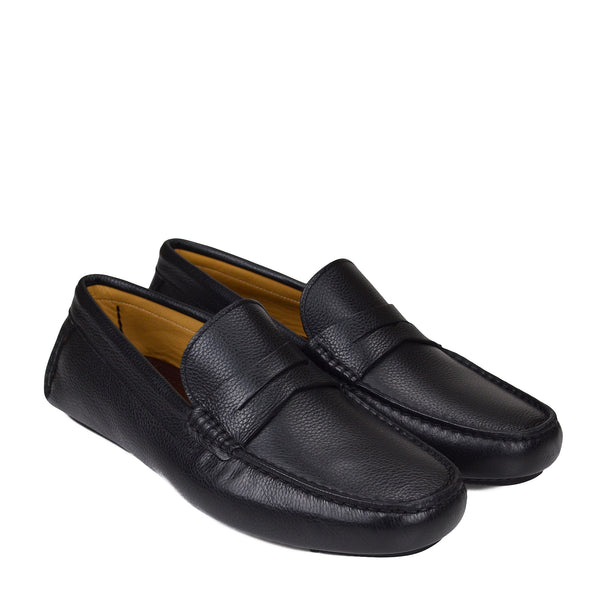 Dragone Driving Loafer - Black - FINAL SALE