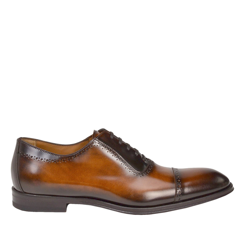 Lucca Cap-toe Oxford - Cognac Leather