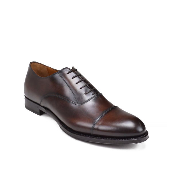 Tenucci Cap-Toe Leather Lace-up - Dark Brown