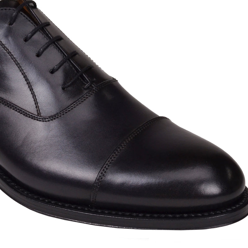 Tenucci Cap-Toe Leather Lace-up - Dark Grey