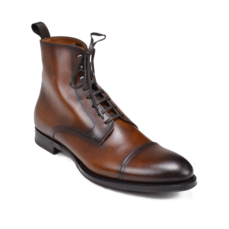 Taledo Leather Lace-up Boot - Cognac