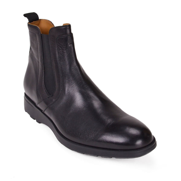 Vicolo Twin-Gore Leather Chelsea Boot - Black