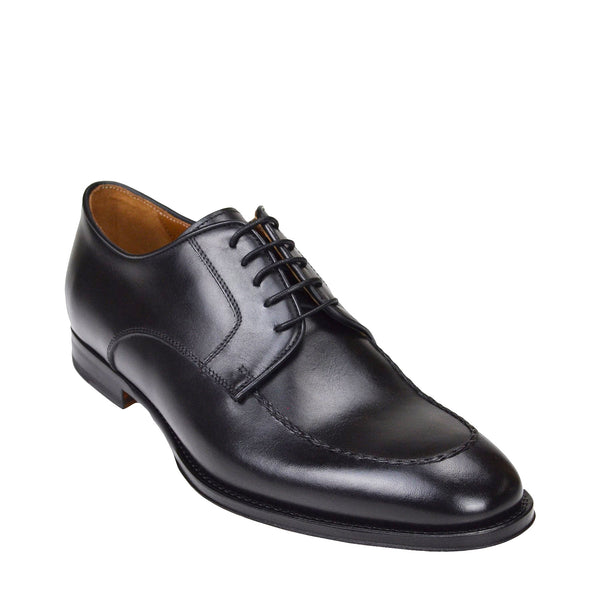 Fausto Leather Derby Shoe - Black