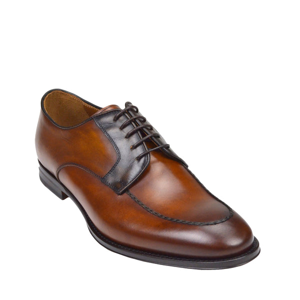 Fausto Leather Derby Shoe - Cognac