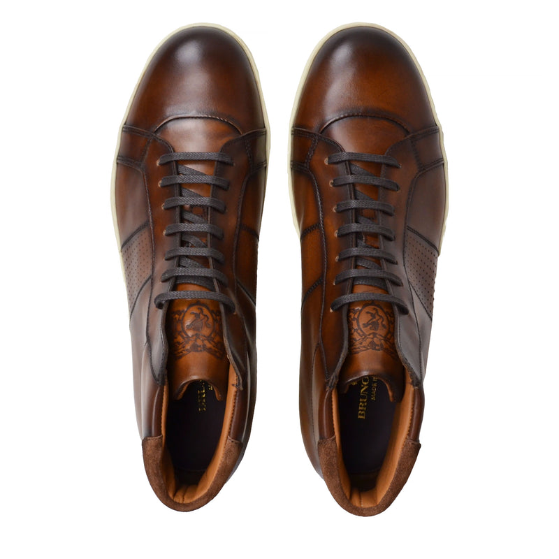 Alvino Leather Sneaker  - Brown Leather - Online Exclusive