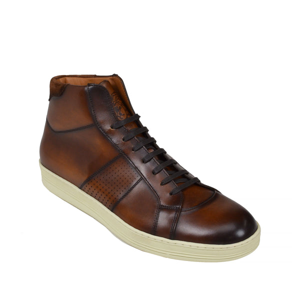 Alvino Leather Sneaker  - Brown Leather - Soho Exclusive