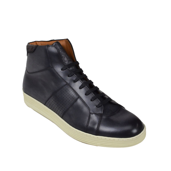Alvino Leather Sneaker  - Dark Grey Leather - Soho Exclusive