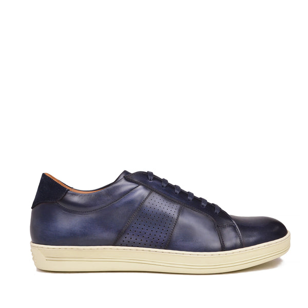 Alvez Leather Sneaker - Blue Leather