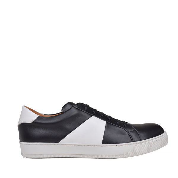 Gibo Leather Sneaker  - Black/White Leather - Online Exclusive