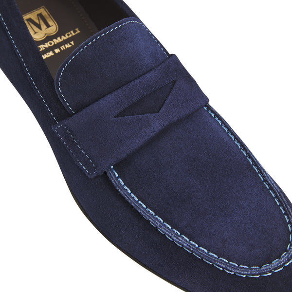 Benito Suede Penny Loafer - Navy
