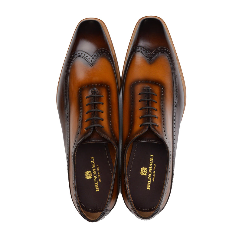 Calvino Wingtip Oxford Shoe - Brown/Cognac