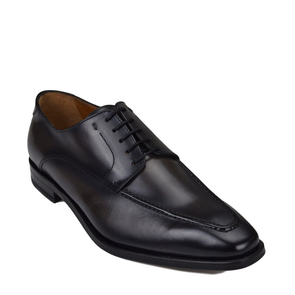 Colombo Leather Derby Shoe - Dark Grey