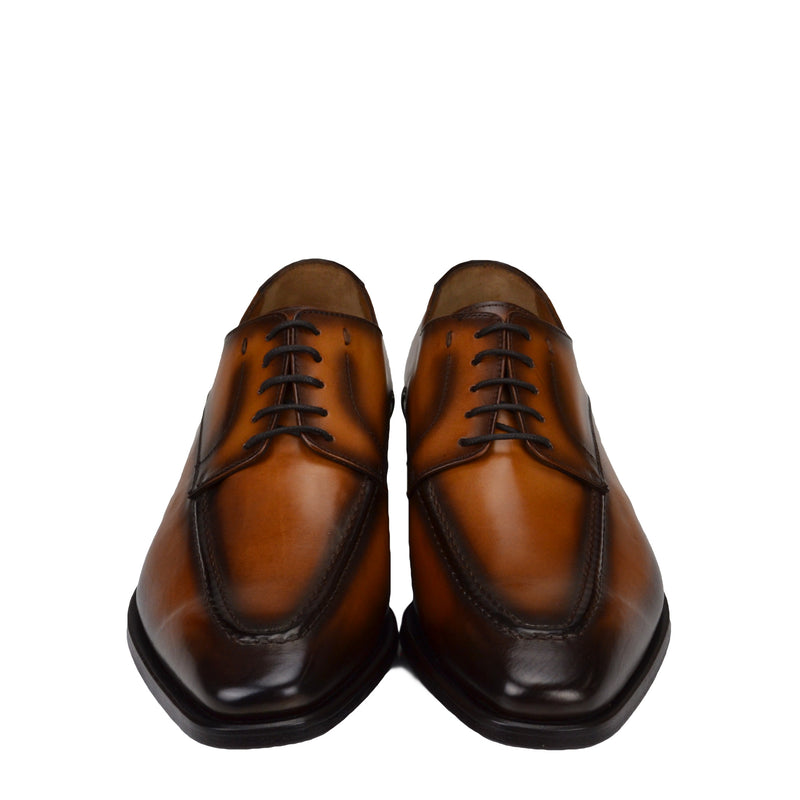 Colombo Leather Derby Shoe - Cognac