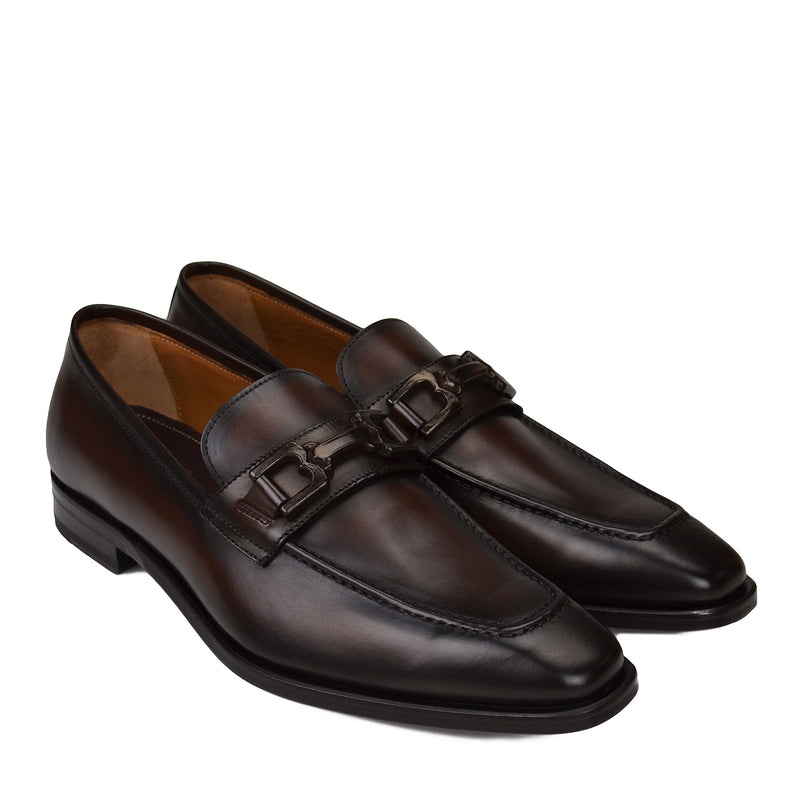 Cornelio Leather Bit Loafer - Whiskey