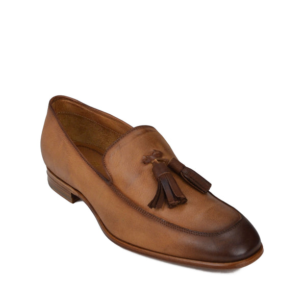 Iko Leather Tassel Loafer - Cognac Leather