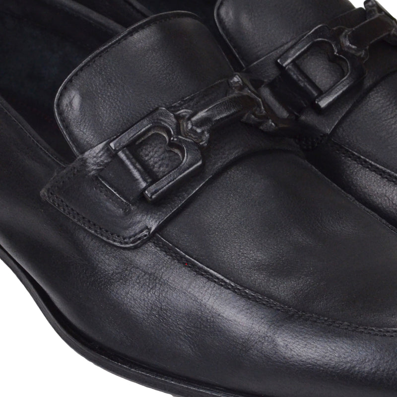 Indio Leather Bit Loafer - Black