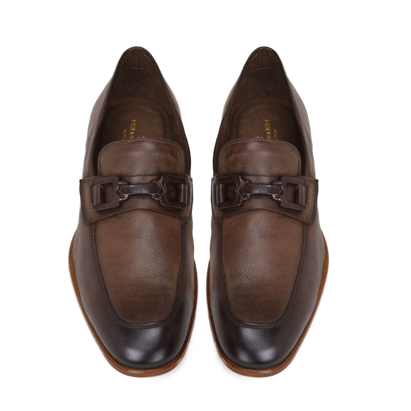 Indio Leather Bit Loafer - Dark Brown